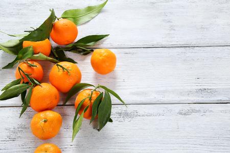 Photo pour fresh ripe tangerines - image libre de droit
