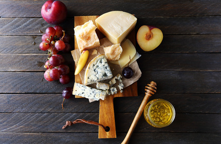 dark cheese composition, top view
