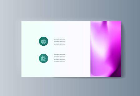 Illustration pour Business presentation brochure infographics advertising goods and services. Vector illustration - image libre de droit