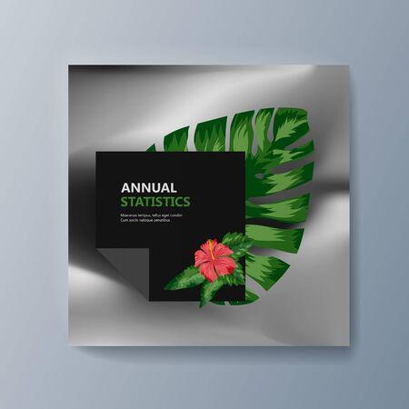 Illustration for Tropical flowers classification plant description. Vector illustration - Royalty Free Image
