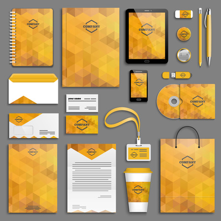 Foto de Corporate identity template set. Business stationery mock-up with logo. Branding design. - Imagen libre de derechos