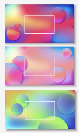 Illustration for Banners with liquid abstract background with blue, pink, purple waves. Vector design layout for presentations, flyers, posters - Royalty Free Image