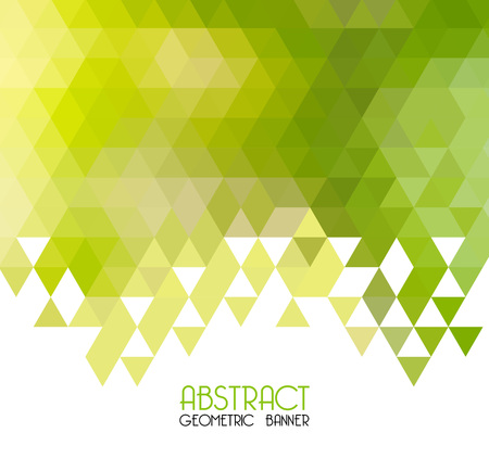 Illustration pour Vector Abstract  green geometric background. Template design. Vector - image libre de droit