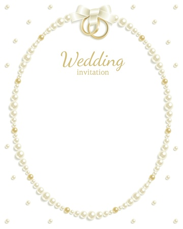 Wedding background with jewels composing a frame for your text