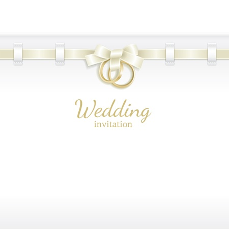 Wedding background decorated with ribbon and rings