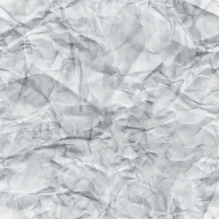 Illustration pour White Crumpled Paper Seamless Texture. Vector illustration. Abstract Detailed Creased Grunge Tileable Background. Pattern Swatch - image libre de droit