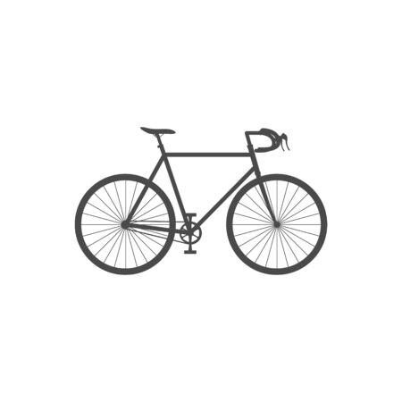 Illustration pour Road bike isolated simple icon on white background. Flat vector illustration. - image libre de droit