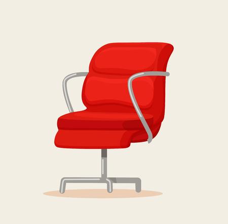 Office chair cartoon vector illustration.