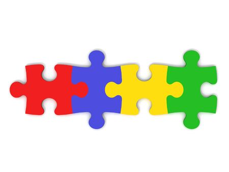 Colorful Jigsaw Pieces