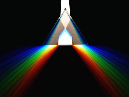 schematic 3d render of a prism