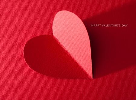 Foto de Holiday Card. Heart for Valentines day - Imagen libre de derechos
