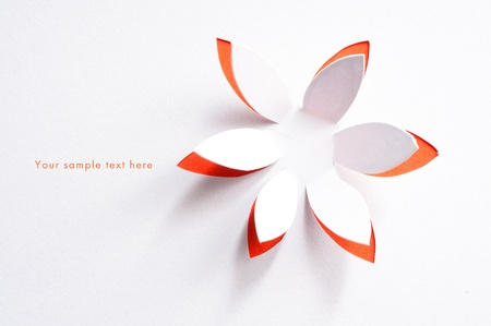 Foto de  Greeting card whith paper flower - Imagen libre de derechos