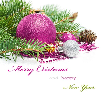 Photo for Christmas greetings card - Royalty Free Image