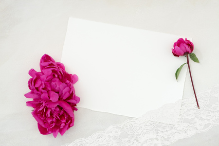Photo for Pretty Styled Desktop, Stationery Flatlay Mockup photograph, great for lifestyle  or to announce a celebration, wedding or event - Royalty Free Image