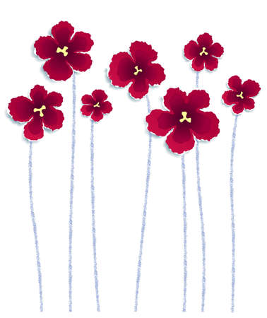 Flowers made of torn paper, vector eps8 illustration