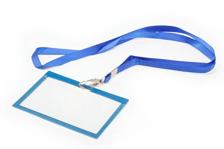 Name Tag with white background