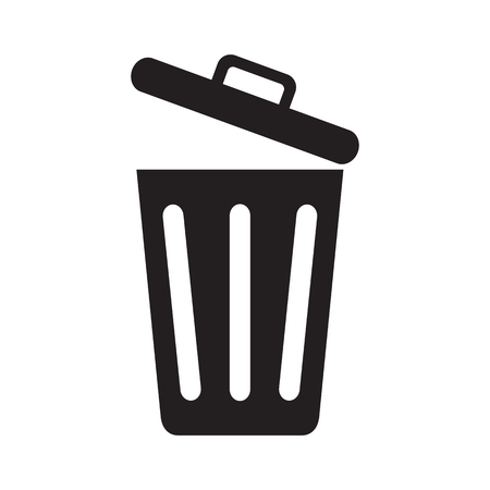 Illustration for Icon opened trash can isolated on white background. Vector illustration. - Royalty Free Image