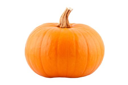 single pumpkin, isolated on white background