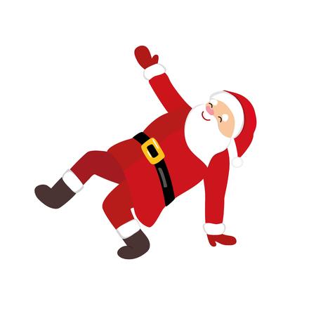 Christmas Dancing Cartoon.Cartoon Santa Claus Dancing Funny Comic Character In