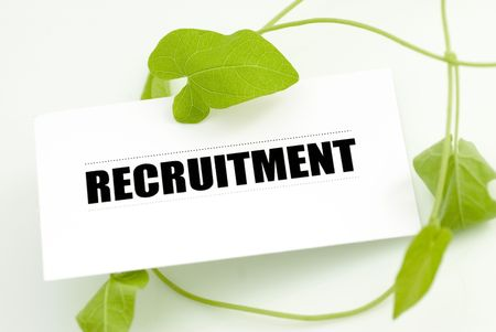 business card with green plant for environmental conservation recruitment