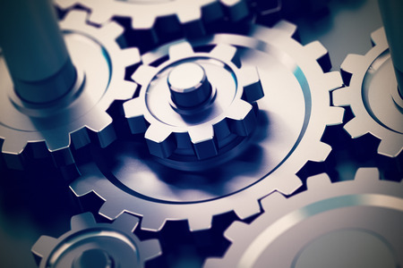 Photo pour gear or cogwheel working together, movement transmission. Concept of teamwork - image libre de droit