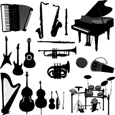 musical instruments 2 - vector
