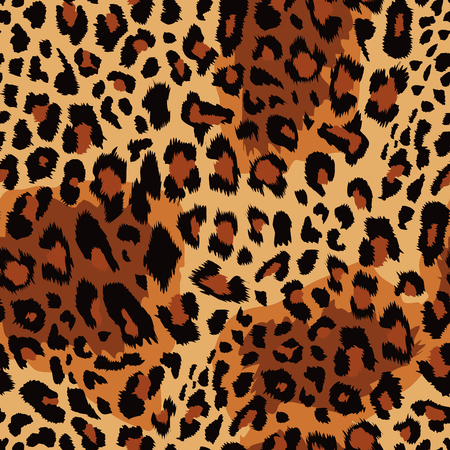 Illustration for Leopard pattern Vector illustration. - Royalty Free Image
