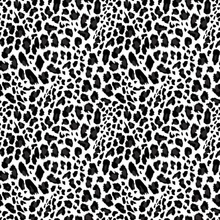 Ilustración de Leopard pattern, seamless background Vector illustration. - Imagen libre de derechos