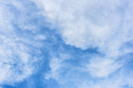 Clouds in blue sky. Sky with fluffy clouds background