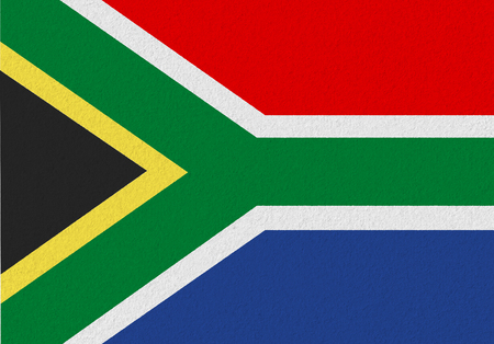 Photo pour South Africa paper flag. Patriotic background. National flag of South Africa - image libre de droit