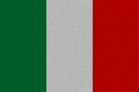 Foto de Italy flag painted on paper. Patriotic background. National flag of Italy - Imagen libre de derechos