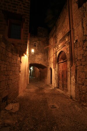 The ancient street of the knights in Rhodes Greece