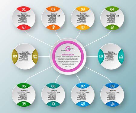 Illustration pour vector abstract 3d paper infographic elements.Business infographics - image libre de droit