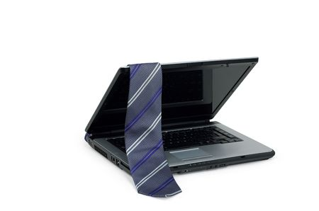 notebook and a tie