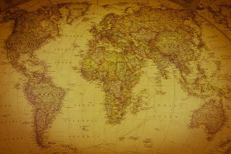 Foto de Vintage map of the world. Top view - Imagen libre de derechos