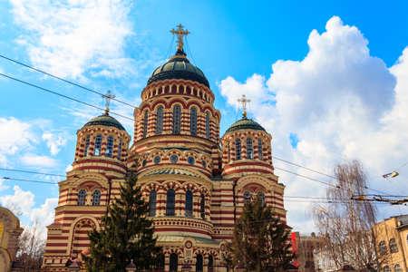 Photo pour View of Annunciation cathedral in Kharkov, Ukraine - image libre de droit