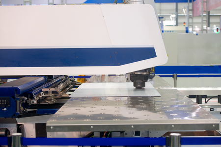 High precision CNC sheet metal stamping and punching machinery on exhibition