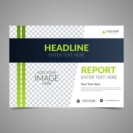 Illustration pour Elegant green business brochure design. Business flyer design layout template. Can be use for annual report, poster or cover. Modern publication poster magazine. Flat style vector illustration. - image libre de droit