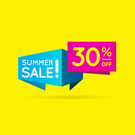 Illustration pour Business Sell 30% Offer shape  Sell shape to best offer your product - image libre de droit