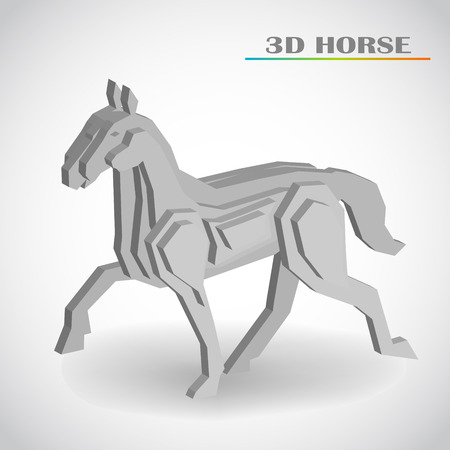 horse 3d vector