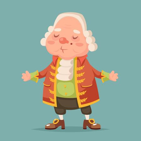 Illustration pour Noble medieval aristocrat mascot cartoon vector illustration - image libre de droit