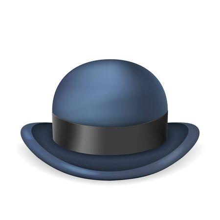 Illustration for Gentleman bowler hat 3d isolated vintage design vector illustration - Royalty Free Image