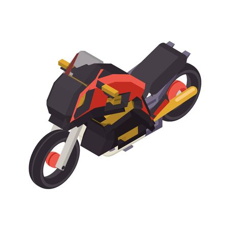 Illustration for Isometric bike flat sport design vector illustration - Royalty Free Image