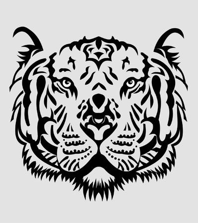 Illustration pour Tiger Face - image libre de droit