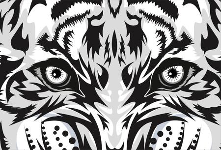 Illustration pour Tiger eye tattoo - image libre de droit