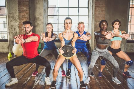 Photo for Mixed race group of athlete at the gym - Royalty Free Image