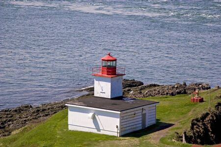 The Lighthouse and foghorn at Cape D'Or, Nova Scotia, Canada.