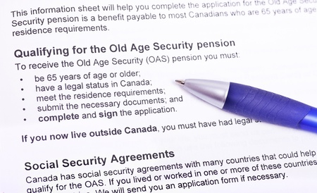 Info to qualify for the old age pension   Canada