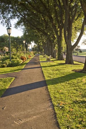 A pathway near the Palins of Abraham in Quebec City