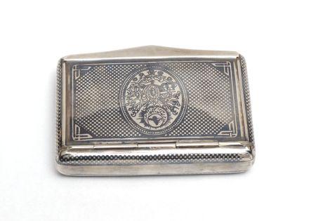 silver box for cigarette